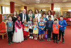 Certificates of Achievement were presented to children who participated in the Summer Stars Library Reading Adventure at Ballybane Library. Pictured at the presentation were, from left: Dáire Hawkins, Ruqaya Tasnin, Maryam Pender, Alannah Flanagan, Molly Houston, Aodán Ó Conghaile, Eolann Gibbons, Dawud Muhammad, Fiachra Hawkins, Sadhbh Ní Chonghaile and Emmett Hawkins. Behind are, from left: Eileen O'Connor, Ballybane Library, Cllr Donal Lyons, Deputy Mayor, Niamh O'Donovan, Ballybane Library, Siobhan Arkins, Galway Public Libraries, and Kitty Walsh, Ballybane Library.