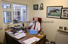 Jarlath McDonagh in his office at his home near Turloughmore.<br /> - Photograph for story on phoning 1,000 people.