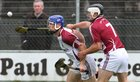 Galway v Westmeath Leinster Senior Hurling Championship Quarter Final at Cusack Park, Mullingar.<br /> Galway's Cyril Donnellan and Westmeath's Paul Greville