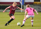 Galway Women's FC v Wexford Youths Só Hotels Under 17 Women's National League Final at Eamonn Deacy Park.<br /> Kayla Brady, Galway Women's FC, and Beth Evesson, Wexford Youths