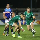 Connacht v Benetton Guinness PRO14 game at the Sportsground.<br /> Connacht's Tiernan O'Halloran and Peter Robb