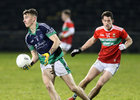 Oughterard v The Neale Connacht Intermediate Football Final at MacHale Park, Castlebar.<br /> Matthew Tierney, Oughterard, and Padraic Walsh, The Neale