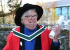 81 year old Brega Webb from Headford who graduated from NUI Galway this week with a PhD.