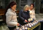 Members of the congregation light candles at the end of a lunchtime session of the Annual Solemn Novena at Galway Cathedral this week.