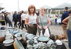 <br /> Olga McMahon, Knocknacarra, with her mother Mary McPhilbin, at the Market Day at the Spanish Arch