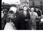 President John F Kennedy visited Galway in June 1963, five months before his assassination. <br /> <br /> He landed in a helicopter at the Sportsground in College Road where he was greeted by Mayor of Galway, Paddy Ryan. <br /> <br /> They proceeded by motorcade to Eyre Square where the President made a speech and was conferred with the freedom of the City. <br /> <br /> The motorcade then went through the town to Salthill where the President was taken by helicopter from the car park beside Seapoint to Limerick.