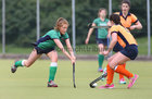Greenfields v Athlone Connacht Junior Cup Hockey final at Dangan.<br /> Molly Kelly Grealy, Greenfields, and Katie Connolly, Athlone