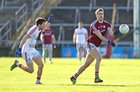 Galway v Cork Allianz Football League Division 2 Round 1 game at the Pearse Stadium.<br /> Galway's Gary O'Donnell and Cork's Tomas Clancy