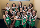 Young members of the cast before going on stage in the opening performance of the Renmore Pantomime, Beauty and the Beast, a new script by Peter Kennedy, at the Town Hall Theatre.