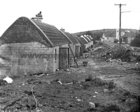 Tullycross thatched cottages under construction 15 March 1973