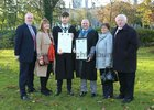 Cian O'Connell, Newcastle Park, who was conferred with a Bachelor of Arts with Creative Writing, pictured with his parents Dave O'Connell and Teresa Mannion (left), and<br /> Stephen Glennon, who was conferred with a Masters of Arts in Writing, with his parents Mary and Sylvester, at NUI Galway.