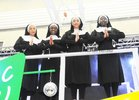 <br /> Savannah Okojie, Reini Olusala Audrey Osi and Cordile Bouteng,  took part in the Merlin College production  of Sister Act The Musical held at the School
