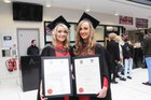 <br /> Phoebe Silke, Knocknacarra and Saoirse Enright, Limerick, M.Sc. Masters in International Managment. at NUI Galway.
