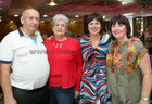 Anthony and Mary Kelly and sisters Helen and Mary O'Flynn at Merlin Park Hospital Tea Dance at the Clayton Hotel.