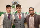 Players Joey Fox and James Webb, and Sammy Nawi of Highlander, Oughterard, at Oughterard GAA Victory Social in the Salthill Hotel.