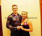 <br /> David O'Connor and Kate Moloney,taking part in Strickley Come Dancing in aid of Ballinderreen  National School in the Clayton Hotel.