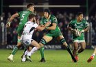 Connacht v Ulster Guinness PRO14 game at the Sportsground.<br /> Connacht's Bundee Aki, Ultan Dillane and Quinn Roux, and Ulster's John Andrew
