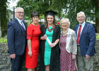 Dr Ailbhe McConnell from Tourmakeady pictured with her parents Brian and Maudy McConnell and her grandparents Elizabeth and Tony McConnell after she was conferred with the degrees of Honours Bachelor of Medicine, Bachelor of Surgery and Bachelor of Obstetrics (MB BCh BAO) at NUI Galway.