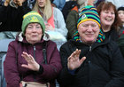 Corofin supporters Marian and Martin O'Donnell from Corofin at the AIB GAA Football All-Ireland Senior Club Championship final at Croke Park.<br />