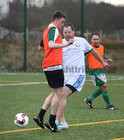 Dave Collins and T J Redmond in action during the annual COPE Galway charity match.<br />