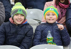 Young Corofin supporters at the AIB GAA Football All-Ireland Senior Club Championship final at Croke Park.<br />