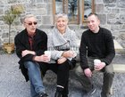 <br /> Mike and  Anne Richardson, with Mike Hughes, Oranmore,  at the Claregalway Castle Spring,  Garden, Food and Craft Fair on Sunday.