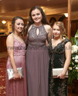Eimear Kelly, Bushypark, and Neasa O'Connor and Yasmin Chen, both from Barna, at Salerno Secondary School Debs Ball in the Ardilaun Hotel.