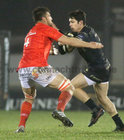 Connacht v Munster Guinness PRO14 game at the Sportsground.<br /> Connacht's Alex Wootton and Munster's Jean Kleyn