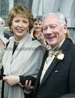 Gay Byrne with the President, Mary McAleese, at the marriage of his daughter Crona to Philip Carney at Spiddal Church. The presidents daughter, Sara, was a bridesmaid at the wedding. 28 September 2004