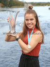 Katie O'Brien, Bronze Medal medal winner in the Para PR2 single Scull's event at the World Rowing Championships in Linz Austria, at the reception at Galway Rowing Club