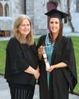 Paula Burke, Clooniffe, Moycullen, who was conferred with the degree of Bachelor of Nursing, Honours, at NUI Galway, pictured with her mother Geraldine.