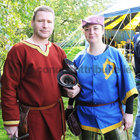 <br /> Martin and Lorraine O'Malley, Castlebar,  at the International Medieval Combat Tournament at Claregalway Castle.
