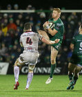 Connacht v Ulster Guinness PRO14 game at the Sportsground.<br /> Connacht's Darragh Leader and Ulster's Ian Nagle