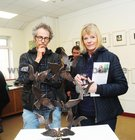<br /> Stan Quarterman Newcastle and Louise Andrews, Henry Street,  at the opening of the Eadain Madigan Art Exhibition at the Kenny Art Gallery,  Liosban Retail Park , Tuam Road.
