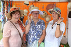 Sr. Angela, R.J.M., Sr Bridget O.P., and Sr Rose, R.J.M., trying hats for size at the Galway International Food and Craft Festival in Salthill Park last weekend.