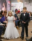 Clara Geraghty, Gael Scoil de hIde, and Cathal Kelly, Maree National School, taking part in Anthony Ryans Annual Communion Wear Fashion Show.