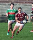 Galway v Mayo FBD Insurance Connacht Football competition 2020 semi-final at MacHale Park, Castlebar.<br /> Galway's Gary O'Donnell and Mayo's Diarmuis O'Connor