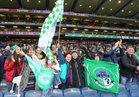 Oughterard supporters at the All-Ireland Intermediate Club Football Championship Final at Croke Park last Saturday.