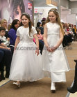 Lauren Geary, Scoil Ide, and Riona Ni Chonghaile, St John the Apostle National School, taking part in Anthony Ryans Annual Communion Wear Fashion Show.