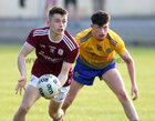 Galway v Roscommon Connacht Under 20 Football Championship semi-final in Kiltoom.<br /> Galway's Gavin Burke and Roscommon's Daire Keenan<br />  <br />
