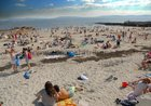 A packed beach at Salthill at the week-end