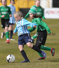 Salthill Devon B v Colemanstown United Under 12 Girls Division 1 Cup final at Eamonn Deacy Park.<br /> Clara Glynn, Salthill Devon, and Shona Barrett, Colemanstown United
