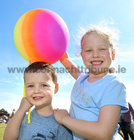 Nathan and Ava Devaney, Cappagh Road, at the Galway International Food and Craft Festival in Salthill Park last weekend.