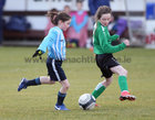 Salthill Devon B v Colemanstown United Under 12 Girls Division 1 Cup final at Eamonn Deacy Park.<br /> Ellan Holland, Salthill Devon, and Blaithin Keane, Colemanstown