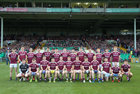 Galway v Mayo All-Ireland Senior Championship Round 4 game at the LIT Gaelic Park, Limerick.<br /> The Galway panel.