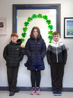 George Mac Niocláis, Robyn Ní Amróg and Caylum Sheppard, Rang a 5, in Scoil Fhursa which reopened on Monday.