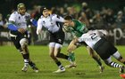 Connacht v Zebre Guinness PRO14 game at the Sportsground.<br /> Connacht's Caolin Blade is tackled by Zebre's Oliviero Fabiani