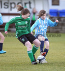 Salthill Devon B v Colemanstown United Under 12 Girls Division 1 Cup final at Eamonn Deacy Park.<br /> Ally Nutley, Colemanstown United, and Allie Sheehan, Salthill Devon