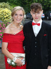 Clodagh Gaffney and Dylan O'Halloran, both from Bushypark, at Salerno Secondary School Debs Ball in the Ardilaun Hotel.