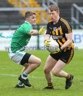 Moycullen v Mountbellew-Moylough Senior Football Championship final at Pearse Stadium.<br /> Paul Donnellan, Mountbellew-Moylough and Daithí Ó Gaothain, Moycullen